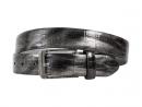 Silver, Gray, Crocodile, Print, Motif, Belt, Men's belt, Lureaux, Designer, limited edition