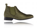 Corduroy Green Chelsea Boots