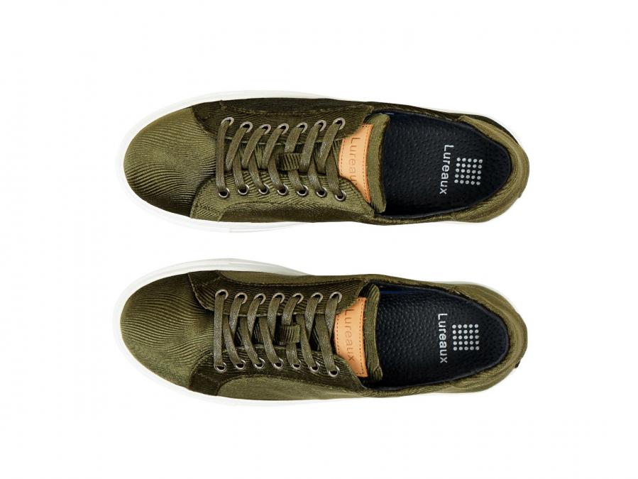 Corduroy Green Sneakers