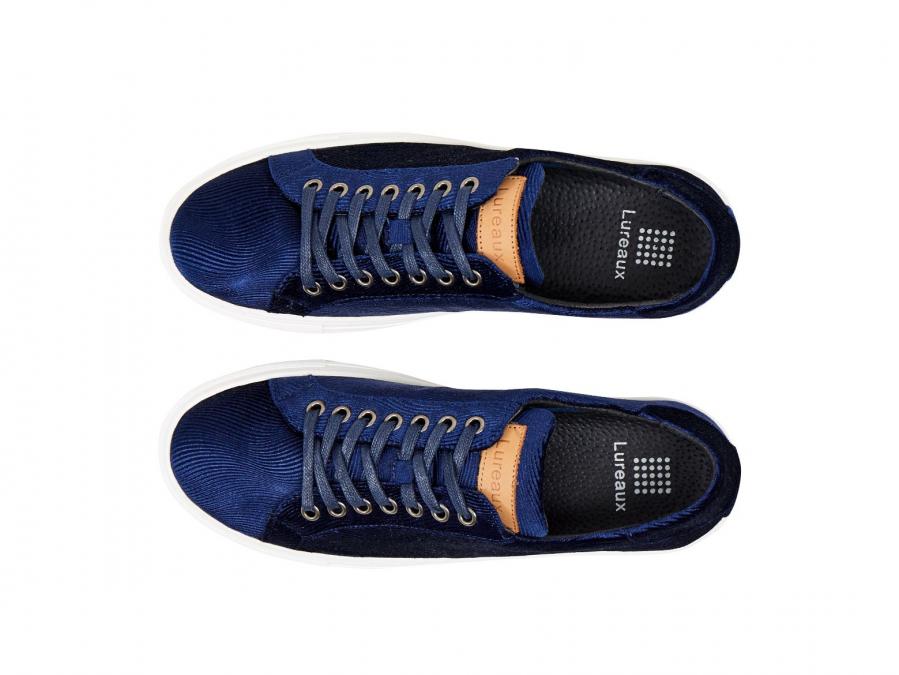 Corduroy Blue Sneakers