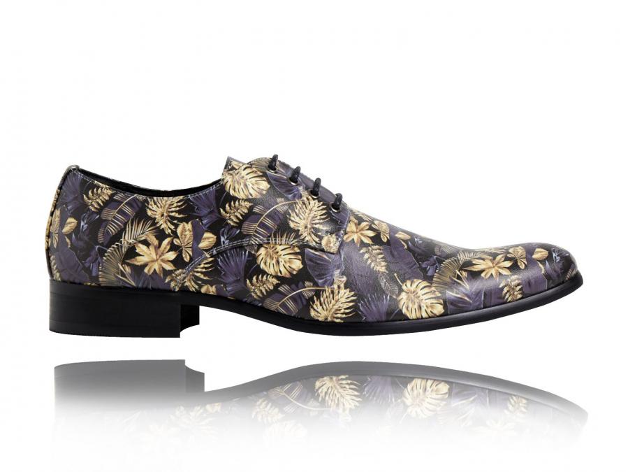 Flowers, Print, Shoes, Lureaux, Blue, Beautiful, Special, Colorful