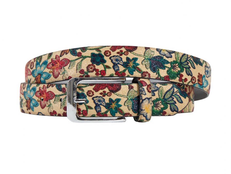 Sand, Sandflower, Flower, Print, Motif, Belt, Men's belt, Lureaux, Designer, limited edition