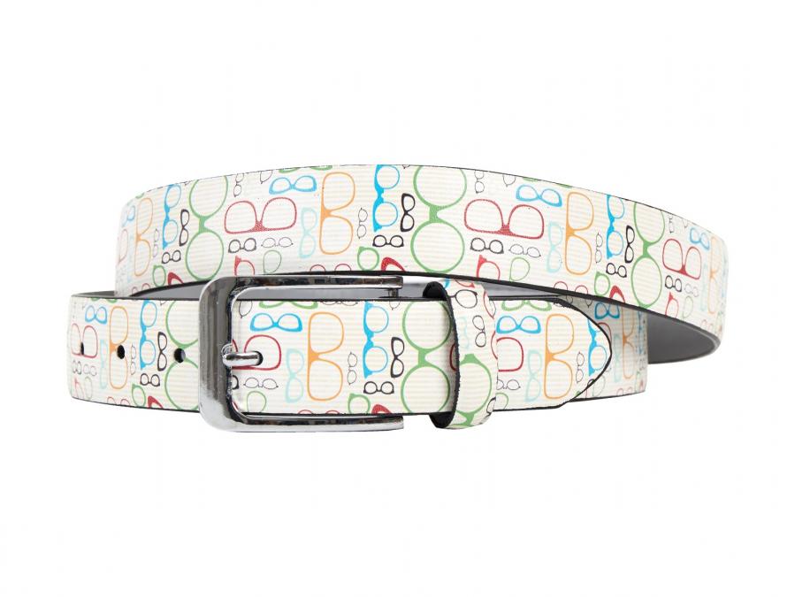 Glasses, Shoes, Frame, Print, Motif, Belt, Men's belt, Lureaux, Designer, limited edition