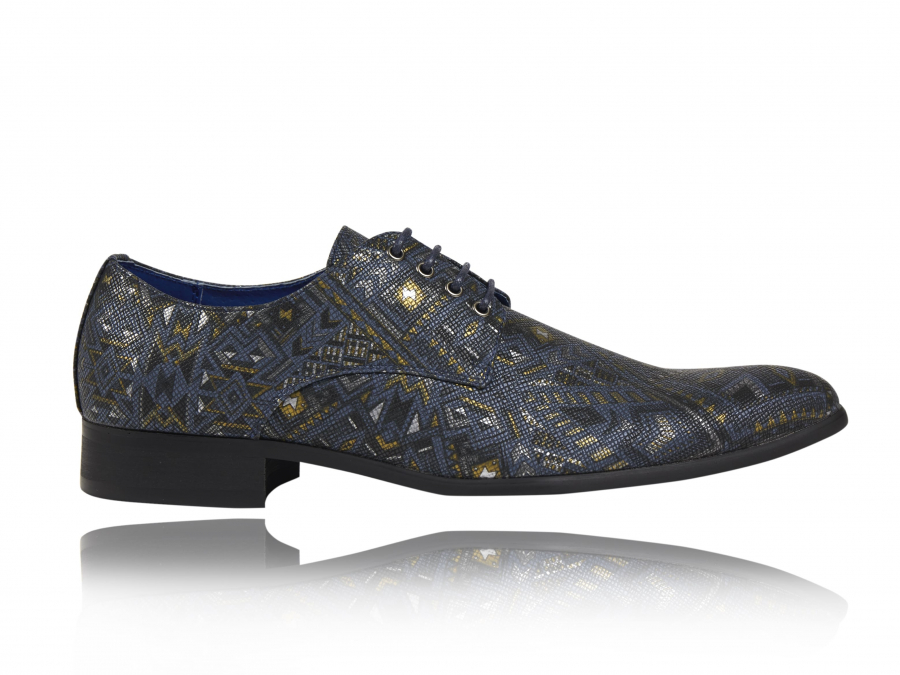Schoenen Bloemenpatroon Blauw Lureaux